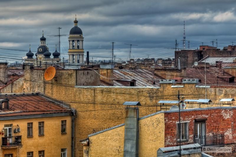 Крыши петербурга фото