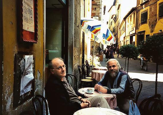 с Петром Вайлем в Италии, г. Лукка, сентябрь 1995 г.