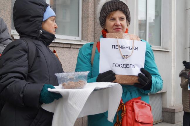 Активисты попытались сорвать лекцию Касьянова в Петербурге