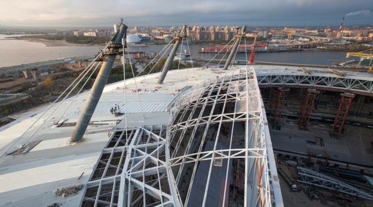 Стадион на Крестовском острове построили на 80 процентов