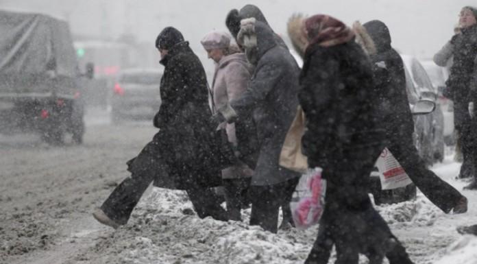 В Петербурге с утра выпало 10 сантиметров снега