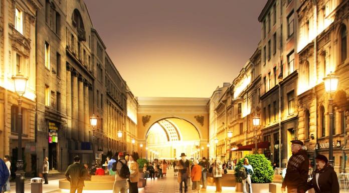 Санкт-Петербург Большая Морская. Концепция пешеходной зоны